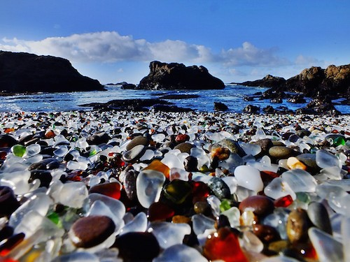 Glass Beach in Californië