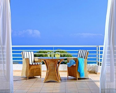 Apollonia Beach Resort Kreta balkon