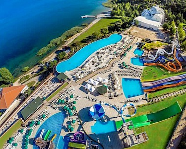 Izgrev Spa & Aquapark Macedonië bovenaf
