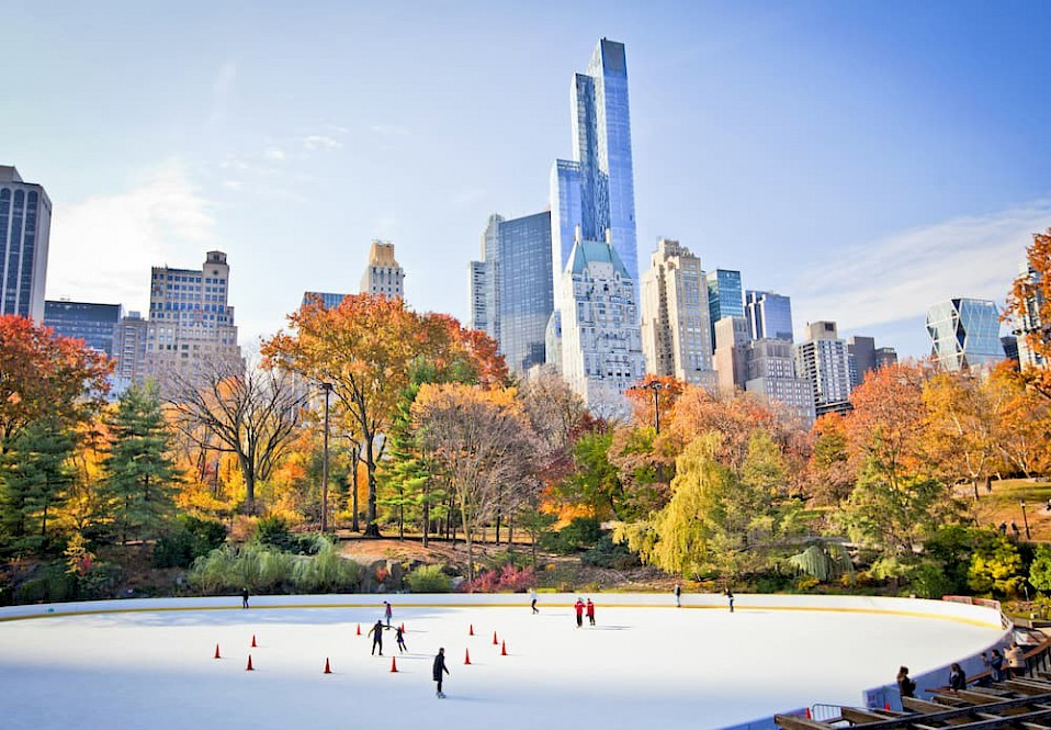 Schaatsen in Central Park New York