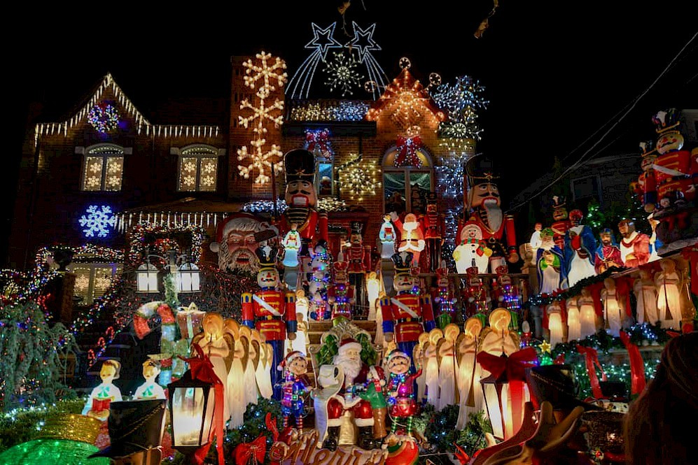 Kerstversiering Dyker Heights