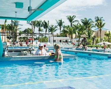 RIU Playacar Mexico swim-up bar